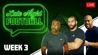 Late Night Football Week #3 mit Coach Esume, Björn Werner & Kasim Edebali