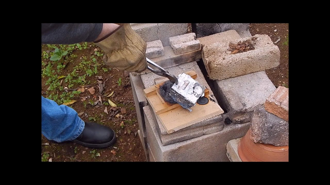 backyard metal casting epic fail youtube
