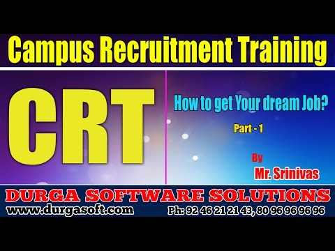 Soft skills Tutorials|| how to get your dream Job Part - 1 by Srinivas