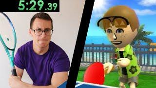 So I tried speedrunning Wii Sports Resort