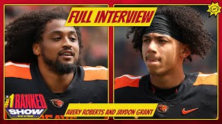Avery Roberts & Jaydon Grant on rivalry w/Oregon, favorite CFB players   INTERVIEW   PAC12 Media Day