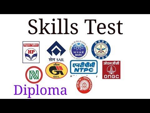 HPCL// ISRO // ONGC// IOCL - Recruitment - Diploma Skill test