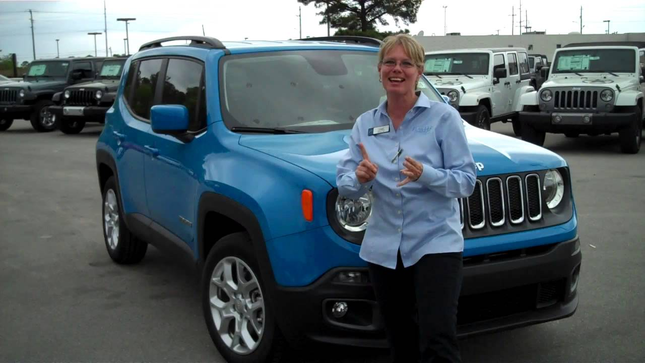 Hendrick Chrysler Jeep >> Take a look at the New Sierra Blue 2015 Renegade! - YouTube