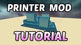 schematica Printer Mod TUTORIAL - How to Auto Build Faster in Minecraft