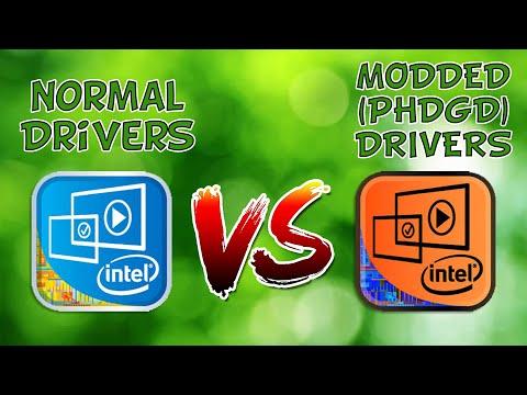 Normal VS Modded Intel HD Drivers