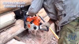 видео Как поднять бревенчатый дом?