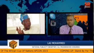 #NigeriaDecides2015: Lai Mohammed Discusses Muhammadu Buhari's Health And Upcoming Elections