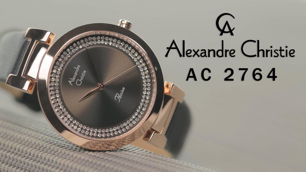 Jam Tangan Alexandre Christie AC 2764 Rosegold Black Leather Strap ... 9458c9059b