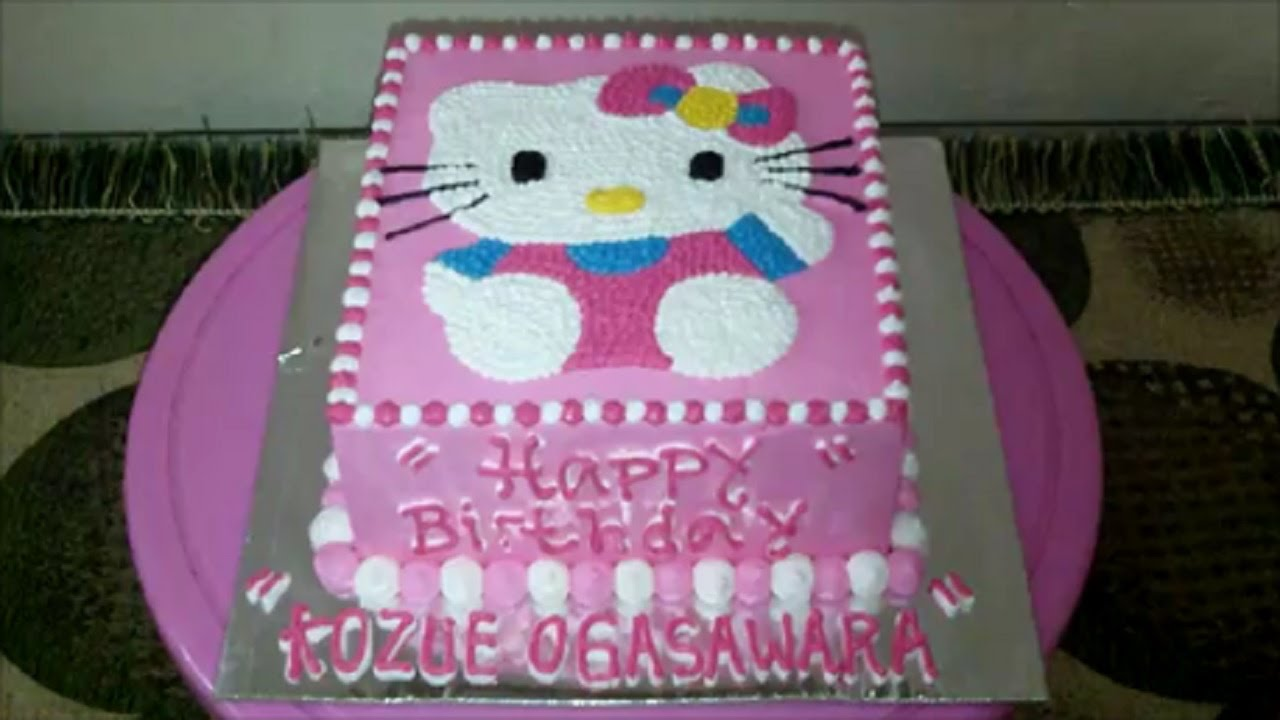 Hello Kitty Cake How To Make Birthday Cake Square Youtube