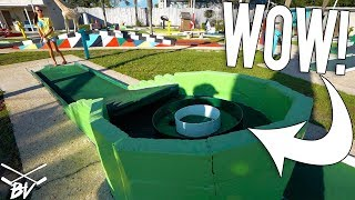 YOU HAVE TO SEE THIS OLD SCHOOL MINI GOLF COURSE + LUCKY HOLE IN ONE!