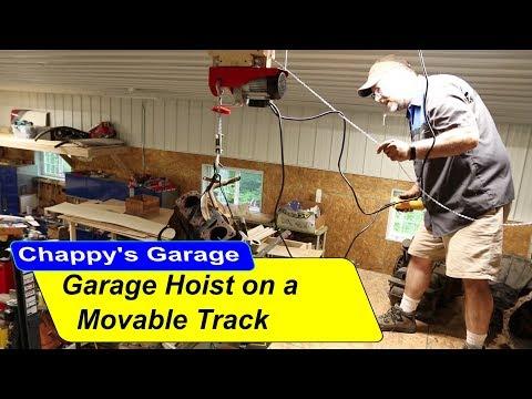 Garage Hoist on a Movable Track