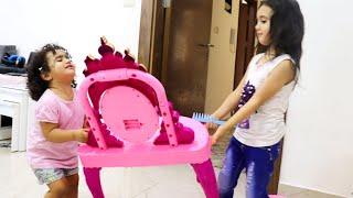 الطفله روزي وجوجو تريدان نفس المكياج