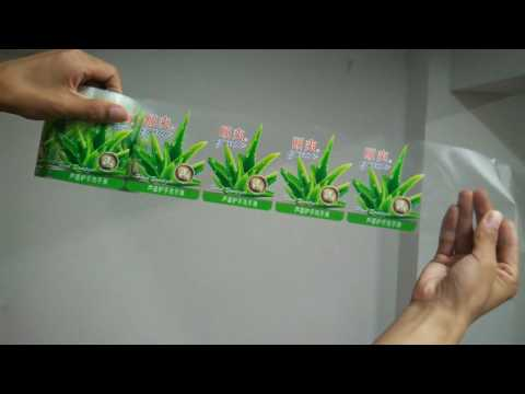 Custom Self Adhesive Transparent Label Sticker Printing