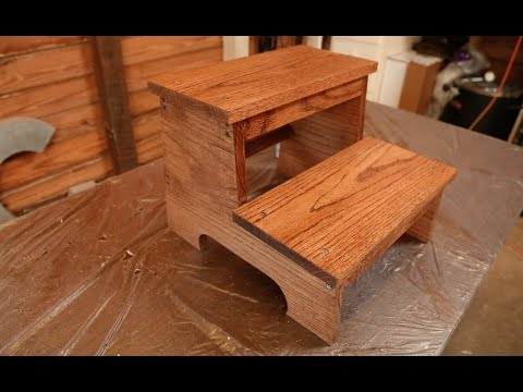 create your own wooden step stool youtube. Black Bedroom Furniture Sets. Home Design Ideas
