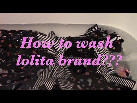 How to wash lolita brand???