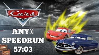 Disney Cars 🚗🚗🚗  | Any% Speedrun | Guide With Commentary | 57:03 | Broken Car Speedgame