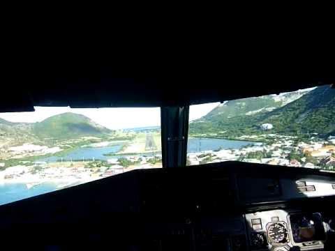 Landing At Grand Case Airport-St Martin Air Antilles Express