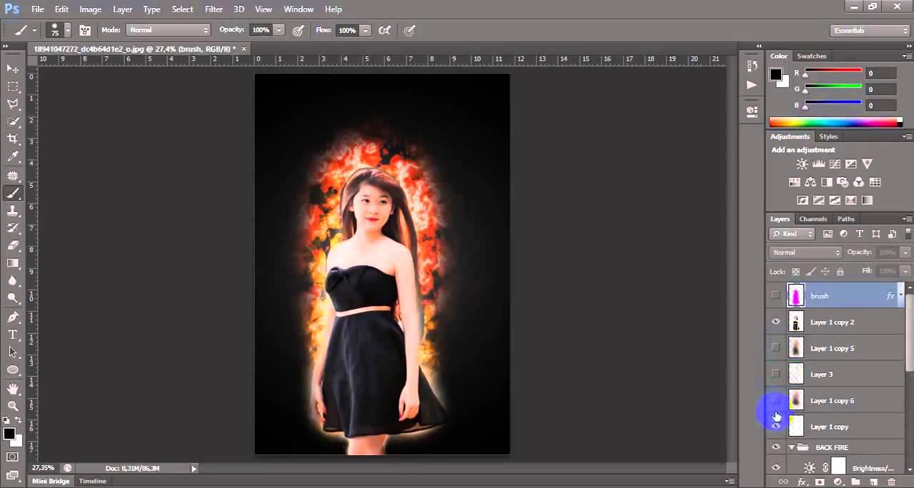 Hướng dẫn làm ảnh nghệ thuật bằng Photoshop