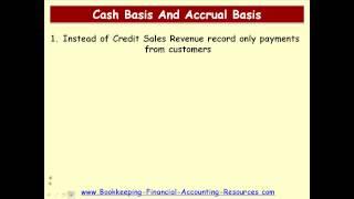Accounting Courses - Cash Basis and Accrual Basis Conversion