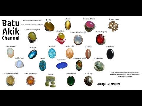 Nama Nama Batu Akik dan Gambarnya