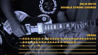 Play along guitar tutorial for Dig Up Her Bones. This video is inte...