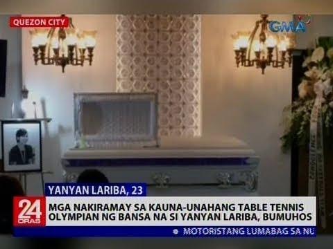 Mga nakiramay sa kauna-unahang table tennis olympian ng bansa na si Yanyan Lariba, bumuhos