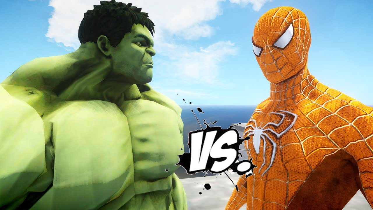 THE AMAZING ORANGE SPIDERMAN VS HULK - EPIC SUPERHEROES ...