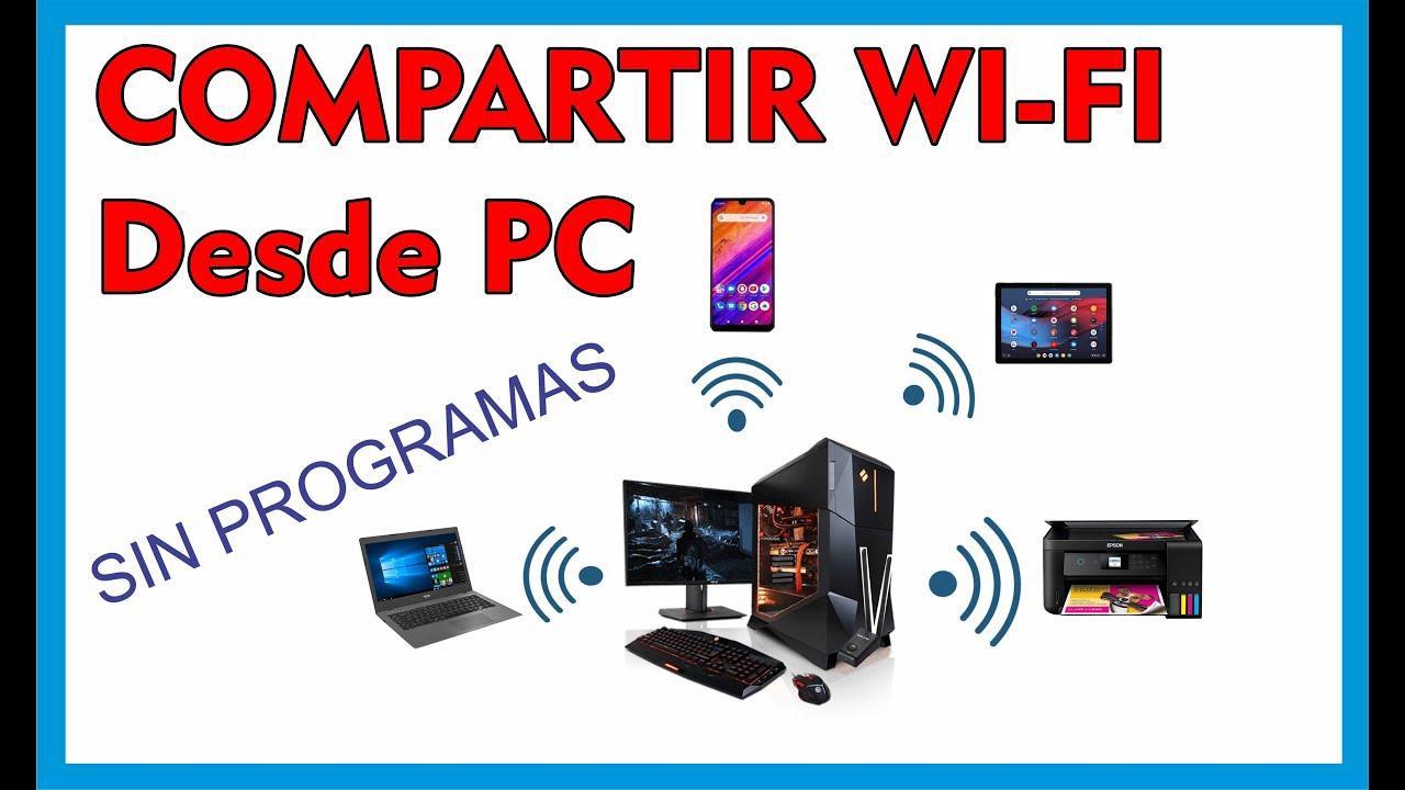 Compartir Internet desde mi PC a mi CELULAR, / convertir mi PC en un ROUTER WIFI / SIN PROGRAMA 2020