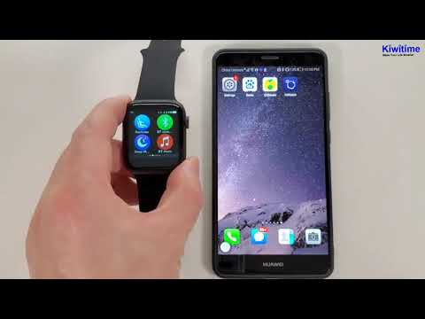 How IWO MAX T500 Smartwatch Conncect With Phone - Apple Watch Series 5 Copy