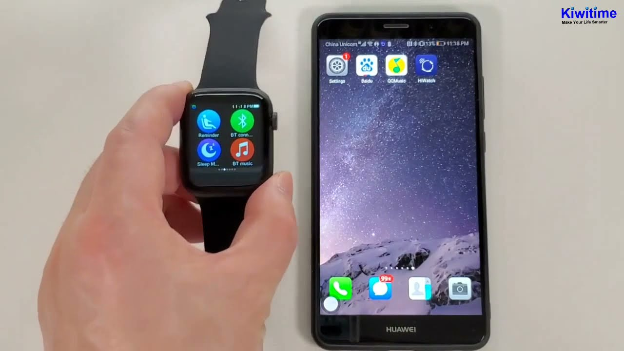 How Iwo Max T500 Smartwatch Conncect With Phone Apple Watch Series 5 Copy Youtube