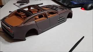 Постройка Модели Автомобиля Из Пластилина 12. Внешняя Обшивка (4 Часть)
