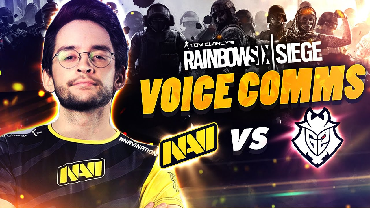 NAVI vs G2 - Rainbow Six VOICE COMMS at European League