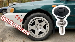 Installing Bumper Quick Release On My Subaru Impreza GC8!!