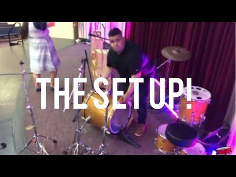 Setting up / live recording / Live Drum VLOG 🥁