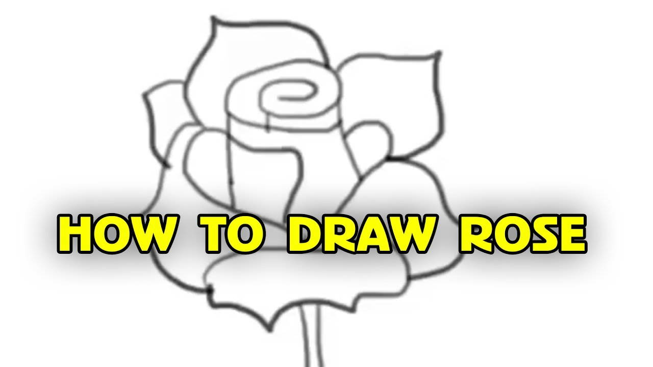 Free Tutorial, How To Draw A Rose  Step By Step, By Silly Kids