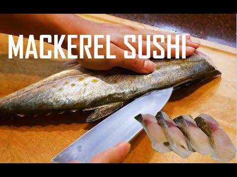 How to Fillet Mackerel and Make Sushi & Sashimi - (SABA)
