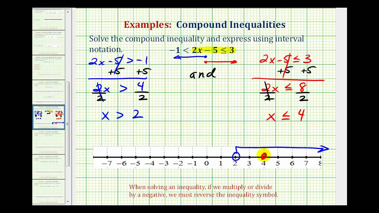 Ex 1 Solve A Pound Inequality Involving AND