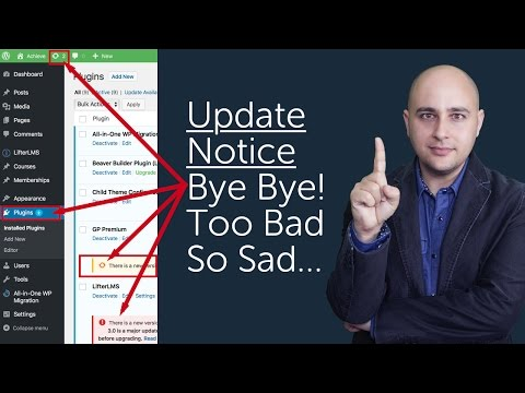 How To Hide WordPress Update Notifications For Plugins & Themes