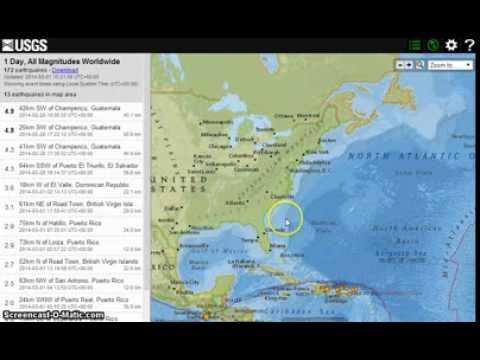 USGS Quake Site.. BLOCKING Canary Island Seismic activity