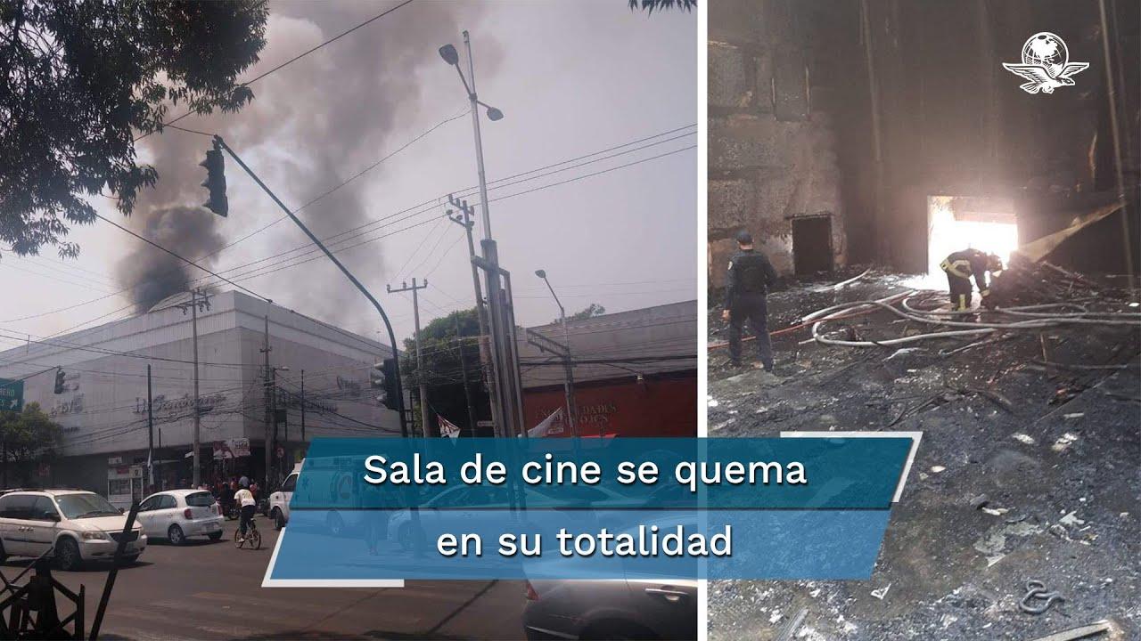 Incendio consume sala de cine