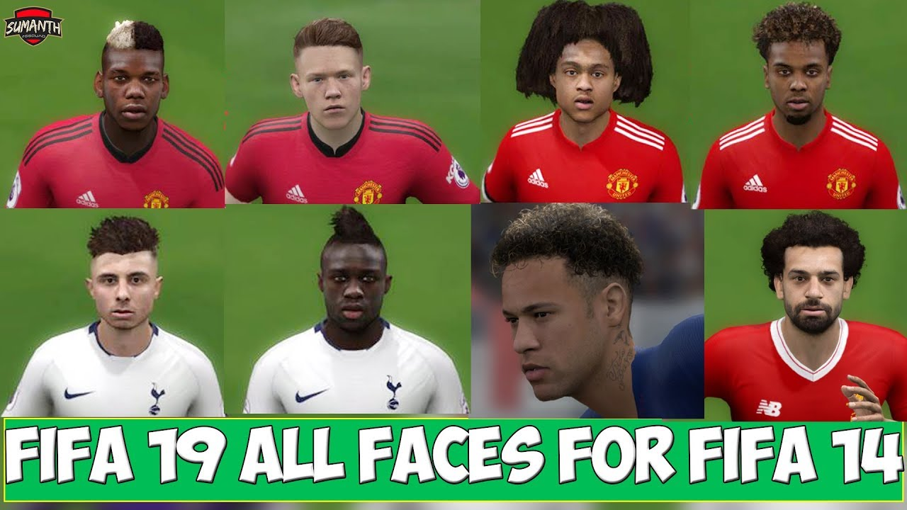 FIFA 19 ALL IN ONE FACES & TATTOOS UPDATE FOR FIFA 14 ★ FIFA 19 CONVERTED  FACES ✔ SEASON 2019 ✔