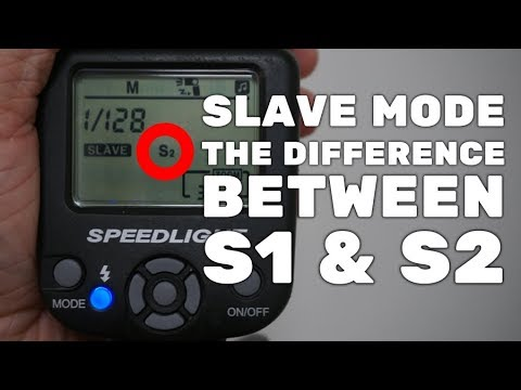 Explained - What Is The Difference Between S1 And S2 Slave Modes On Camera Speedlights/flashes?