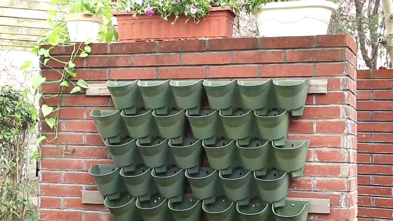 How To Assemble This Amazing Self Watering Vertical Wall Planter With Dripping Kit Youtube