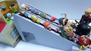 Doraemon and Gegege no kitaro go into the Nobita's desk Spo Spo and escape!for kids!yupyon