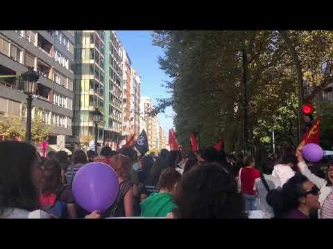Manifestación antifascista en Santander
