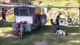 CAMPING IDEAS FOR CAMPERS - SLEEPING IN ENCLOSED TRAILER