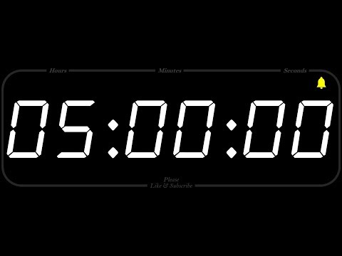 5 Hour - TIMER & ALARM - 1080p - COUNTDOWN