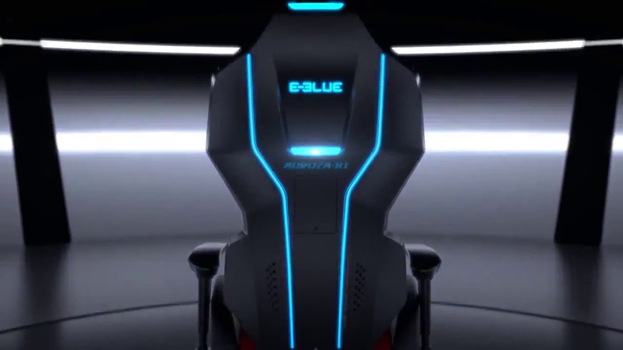 Gaming Chairs Pc Posture Mate Geri Chair E-blue Auroza Rgb | Eec301re Compuji.com - Youtube