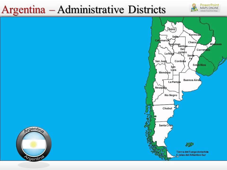 Argentina Presentation Map Slides YouTube