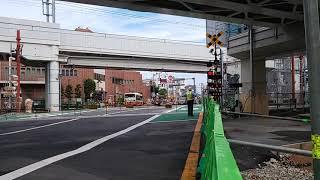 【土休日、8時台通過】東武70090系「THライナー2号」&メトロ13000系「普通 中目黒」第37踏切